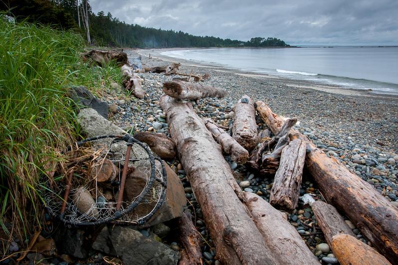 Agate Beach in Naikoon Provincial Park in Haida Gwaii, British Columbia