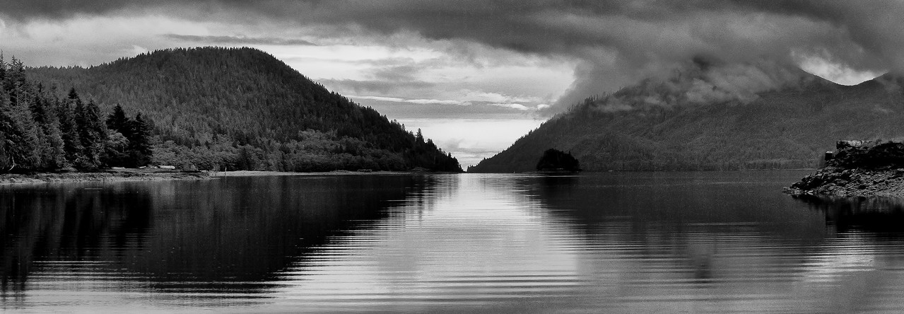 Panorama of Lucy Island in Haida Gwaii, British Columbia