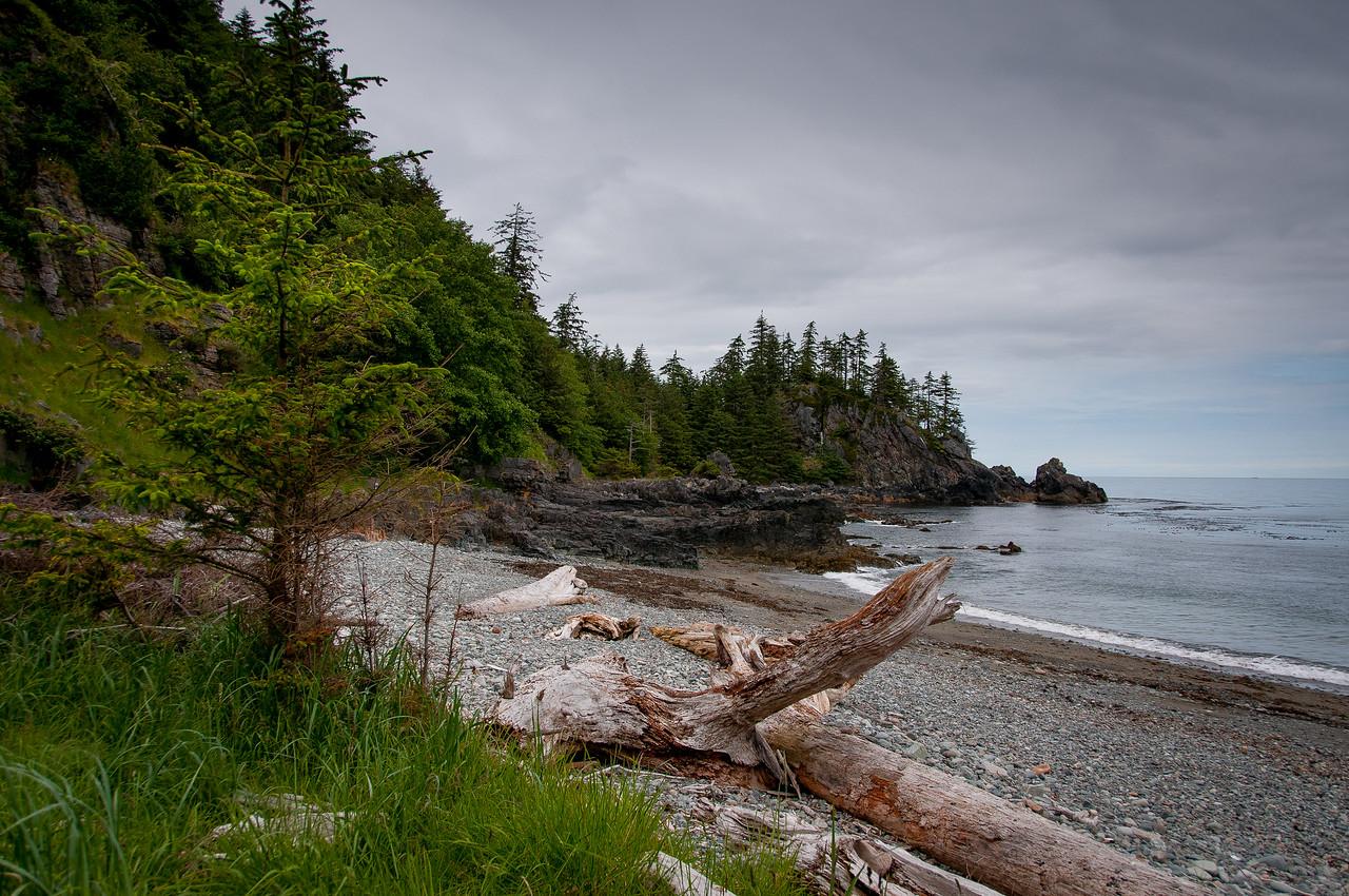 The coastline in Haida Gwaii, British Columbia