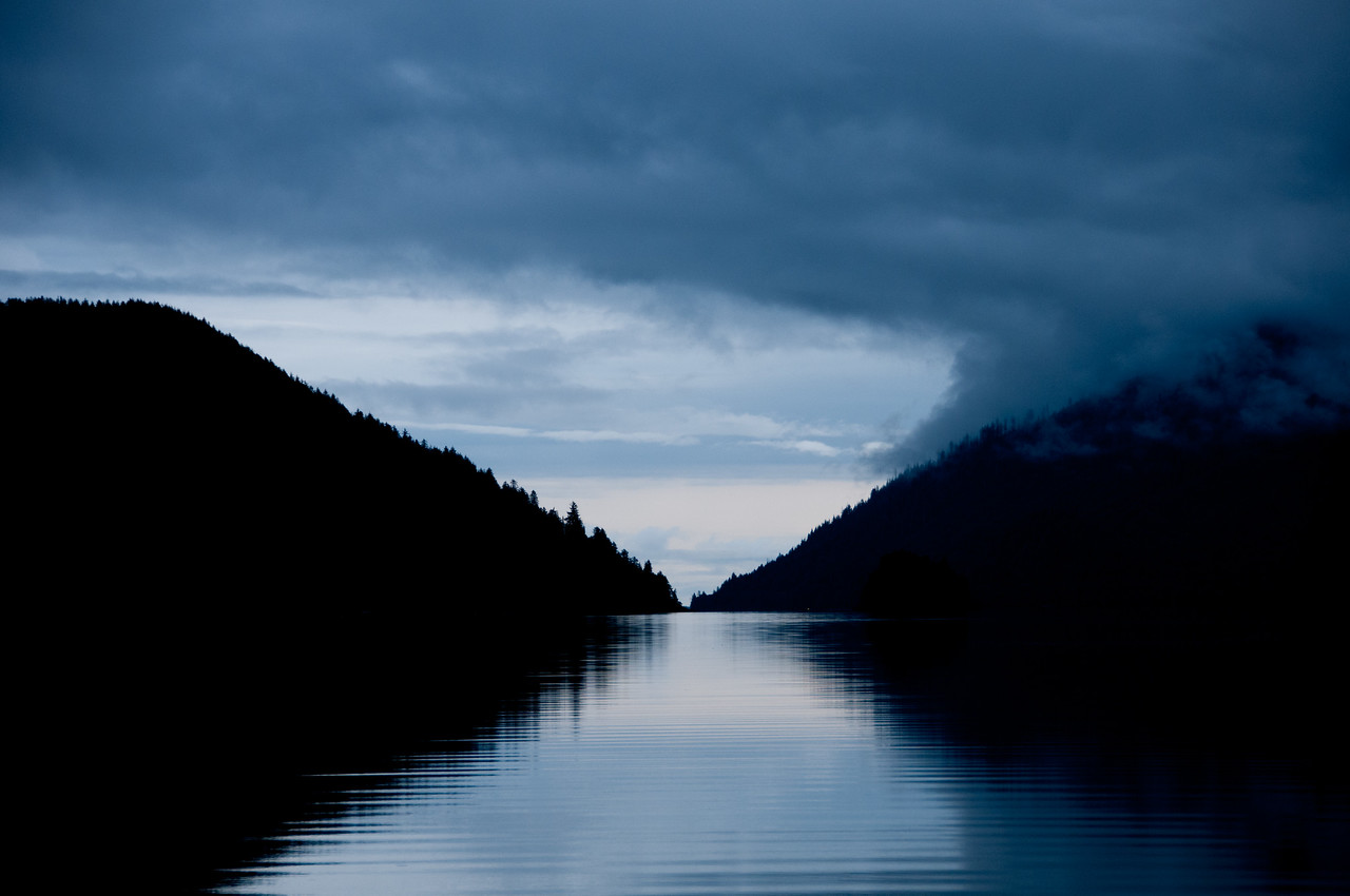 Light reflected on water in Lucy Island, Haida Gwaii, British Columbia