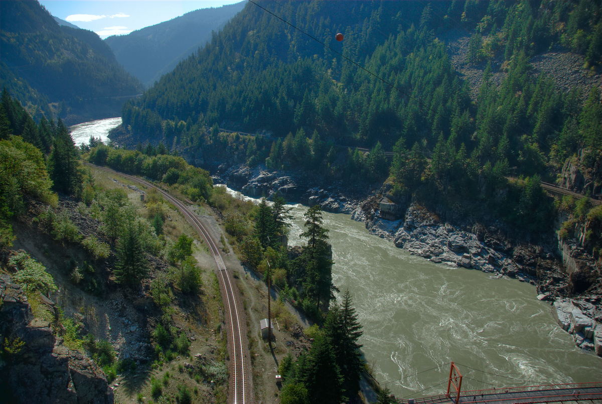 Hells Gate of the Fraser River in British Columbia, Canada