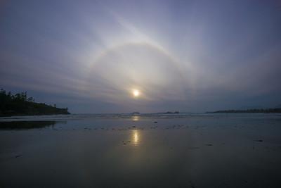 corona over Cox Bay