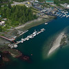 Tofino Harbor from floatplane takeoff
