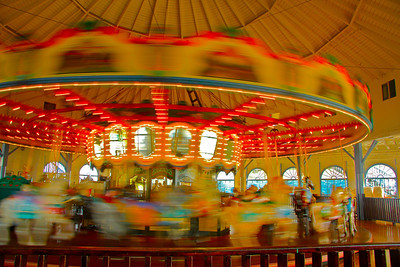 The Pier's famous Carousel is housed in the Hippodrome built in 1947. The current carousel is a hand-carved 1922 Philadelphia Toboggan Company Carousel.