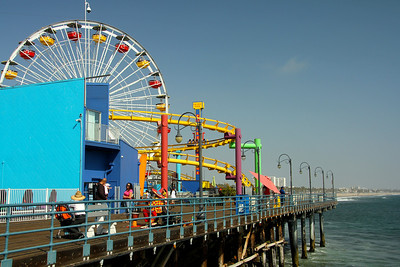 The Ferris Wheel at Santa Monica Pier