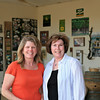 Cindy Newkirk and Donna Hull in the Steinbeck Winery Crash Course schoolroom