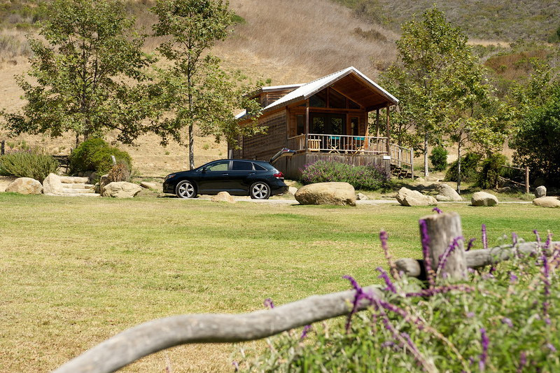 Cedar cabin at El Capitan Canyon Resort near Santa Barbara, California