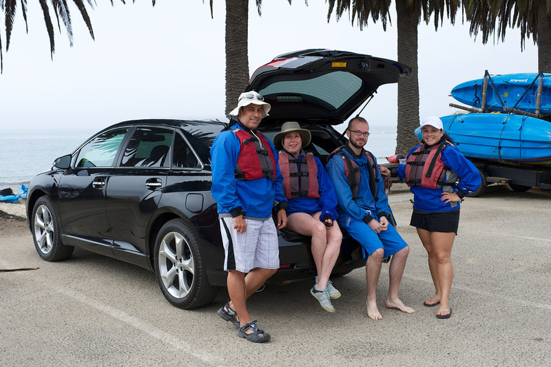 Toyota Venza group gets ready to kayak at Refugio State Park (photo courtesy Toyota U.S.A.)