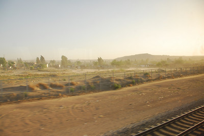 View of the California desert along the Amtrak route