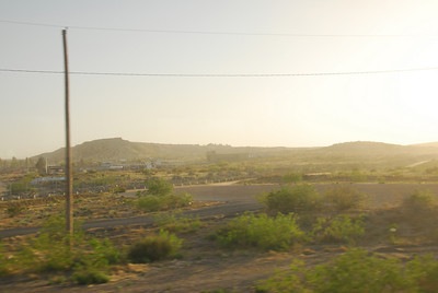 Mexican border along the Amtrak train route in California
