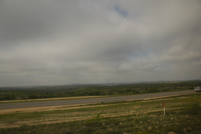 View of the California landscape from the Amtrak train