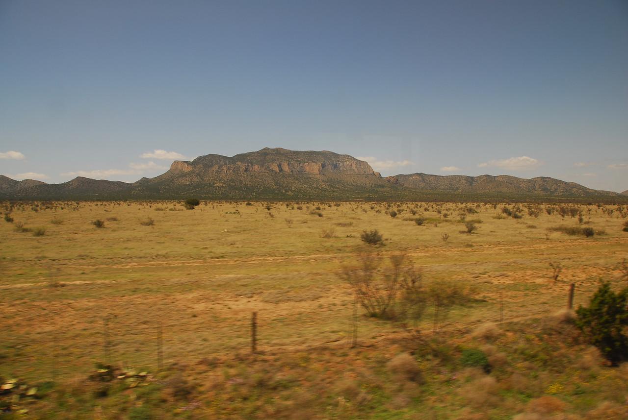 The Amtrak traveling through the California desert