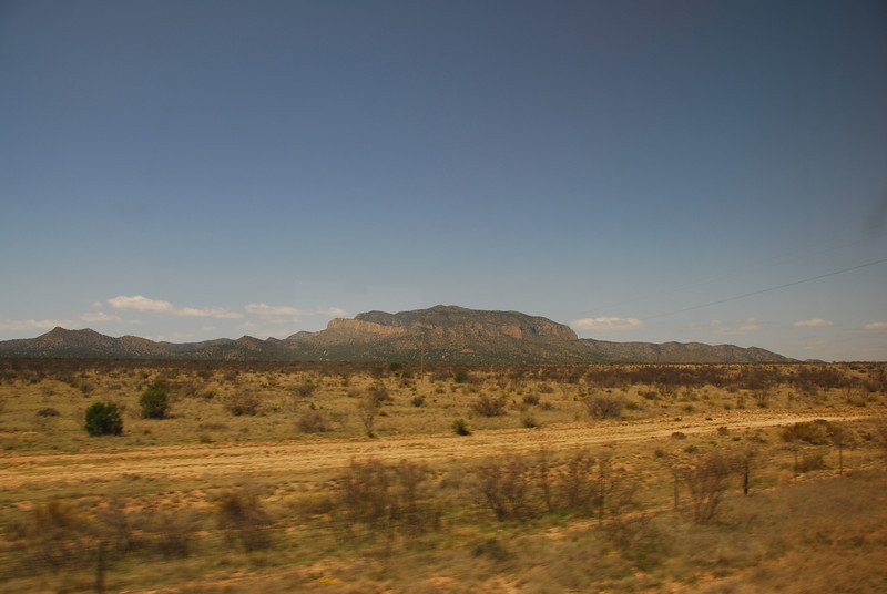 View of the California desert from the Amtrak train
