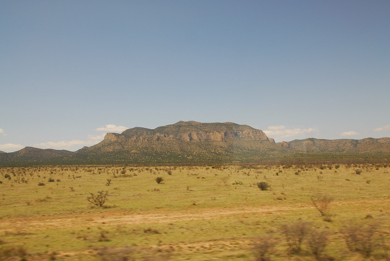 Amtrak travels through the California desert