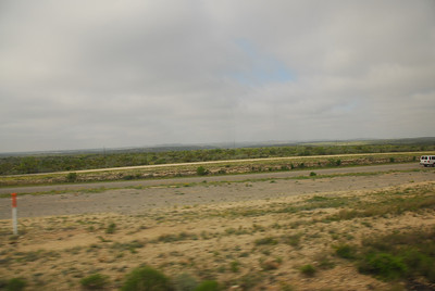 View from the Amtrak train in California