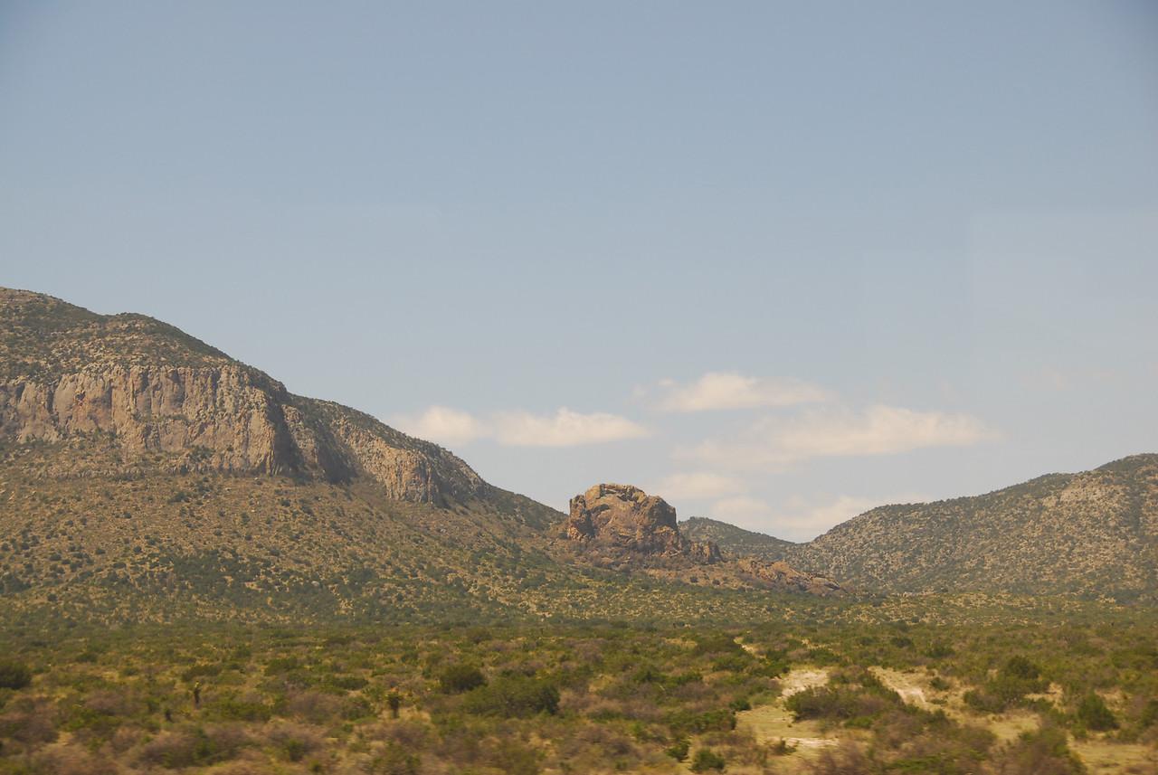 Amtrak traveling through the desert in California