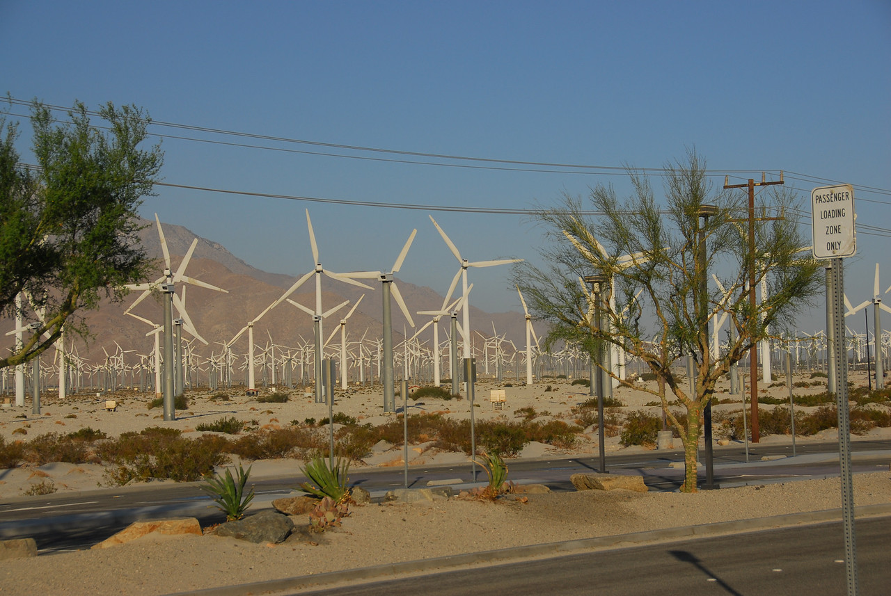 "San Gorgonio Pass and the ""Abandoned Wind Turbines"" Near Palm Springs, California"
