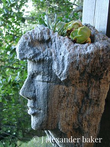 Sculpted Planter in store at Nepenthe, Big Sur