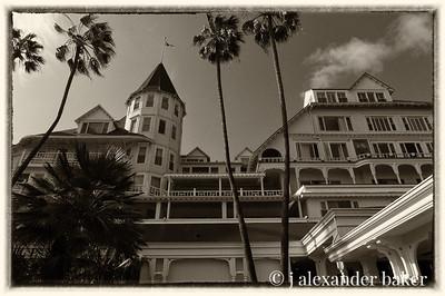 Hotel Del Coronado Vintage Sepia