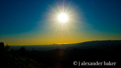 Looking West from Griffith Observatory Before Sunset