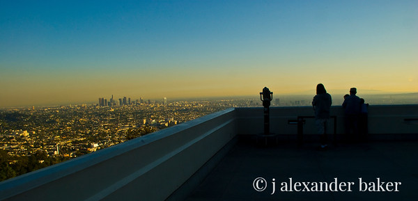 Looking East from Griffith Observatory at Downtown LA Before Sunset