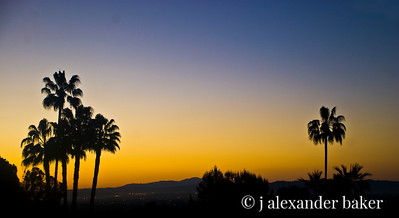 Sunrise over LA from window of hotel room at Langham Huntington Pasadena Hotel - 16x9