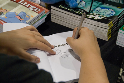 Book signing at Comic-Con 2009 in San Diego, California