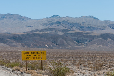 View of the valley near the Mojave Desert in Death Valley National Park