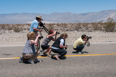 Photographers shooting the Road to Death Valley