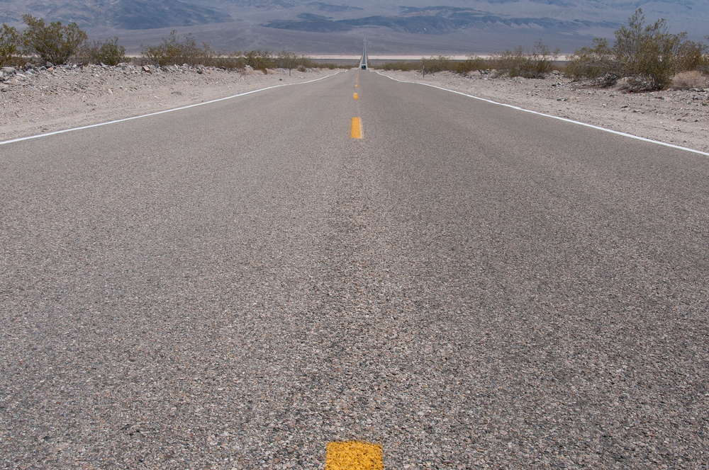 The Hot, Flat Road of Death Valley, California