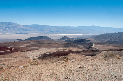 Panorama of Death Valley desert in California