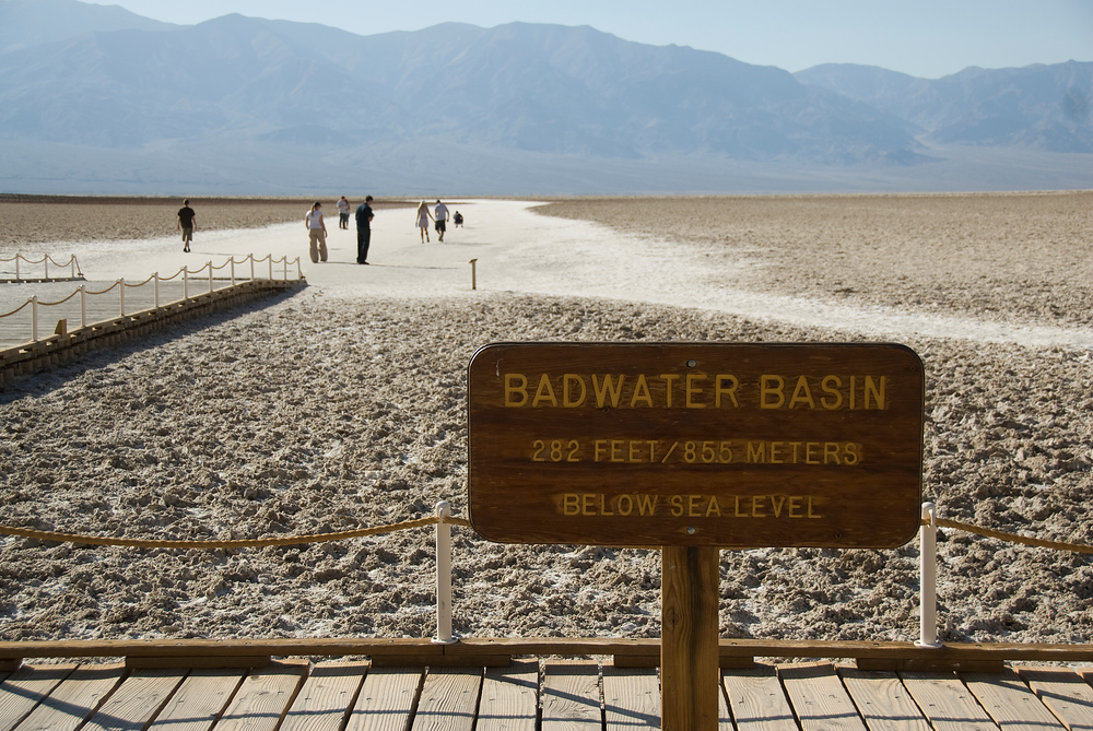 Badwater Basin, Death Valley, California. The lowest point in North America.
