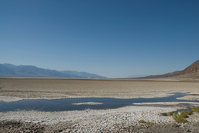Panorama of Badwater Basin in Death Valley, California