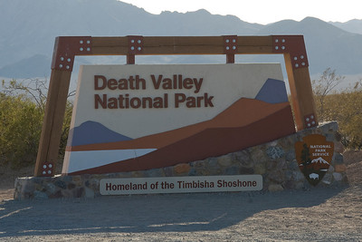 Sign outside Death Valley National Park in California
