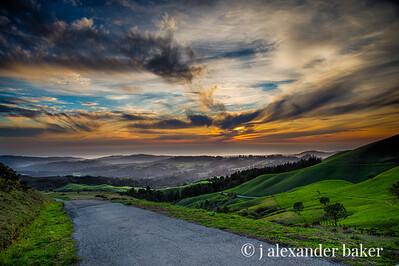 Sunset, Djerassi Ranch