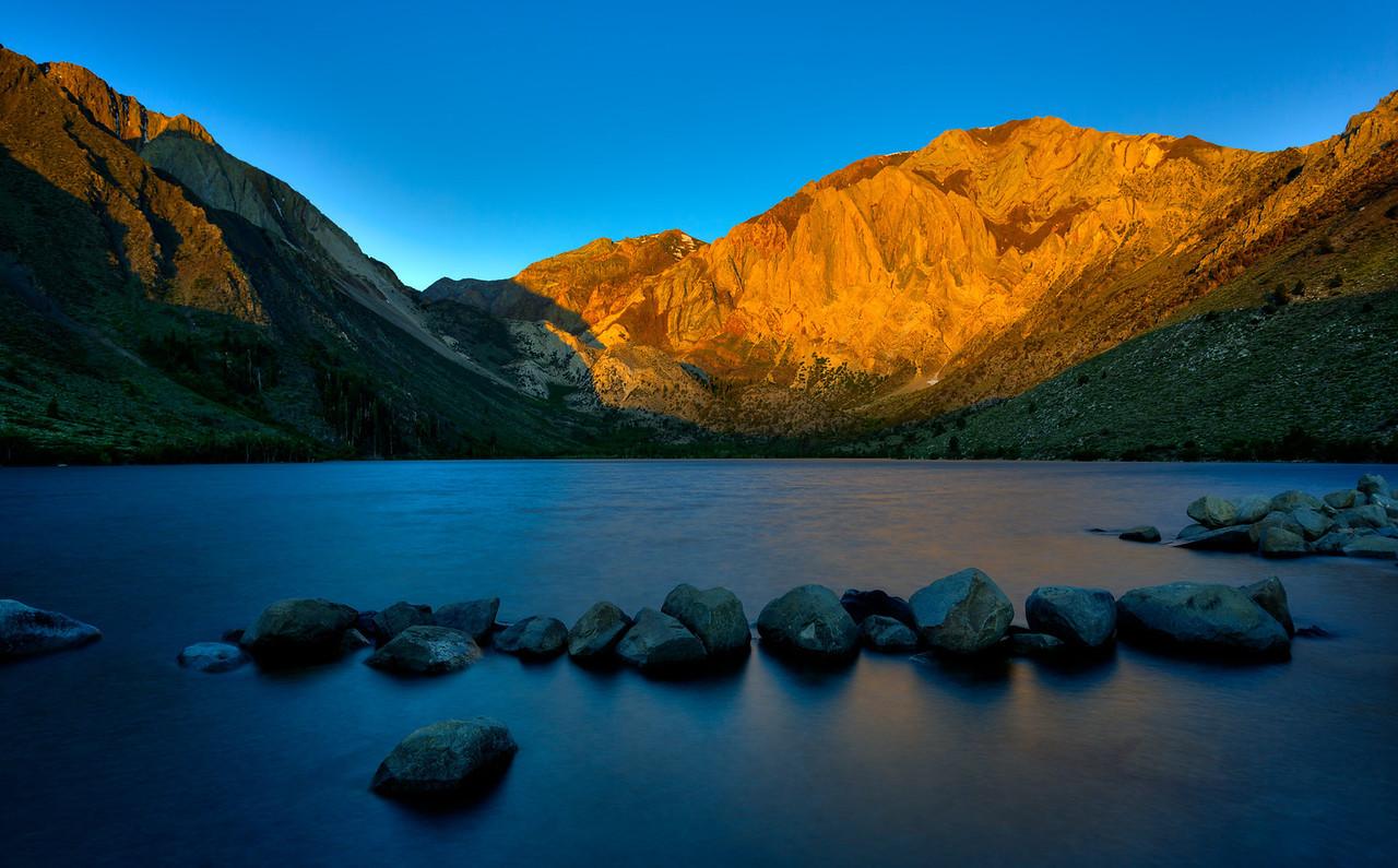 Sunrise over Convict Lake, East Sierra