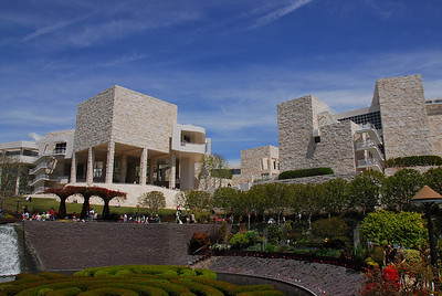 View of the Getty Museum from the Getty Center Garden in California