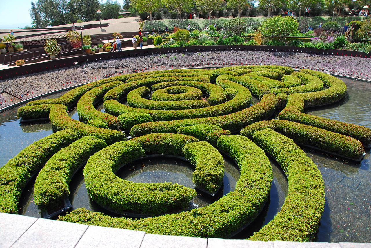 The Central Garden at the Getty Center in California