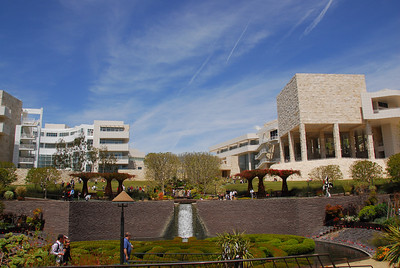 View of the J. Paul Getty Museum from the garden - California, USA