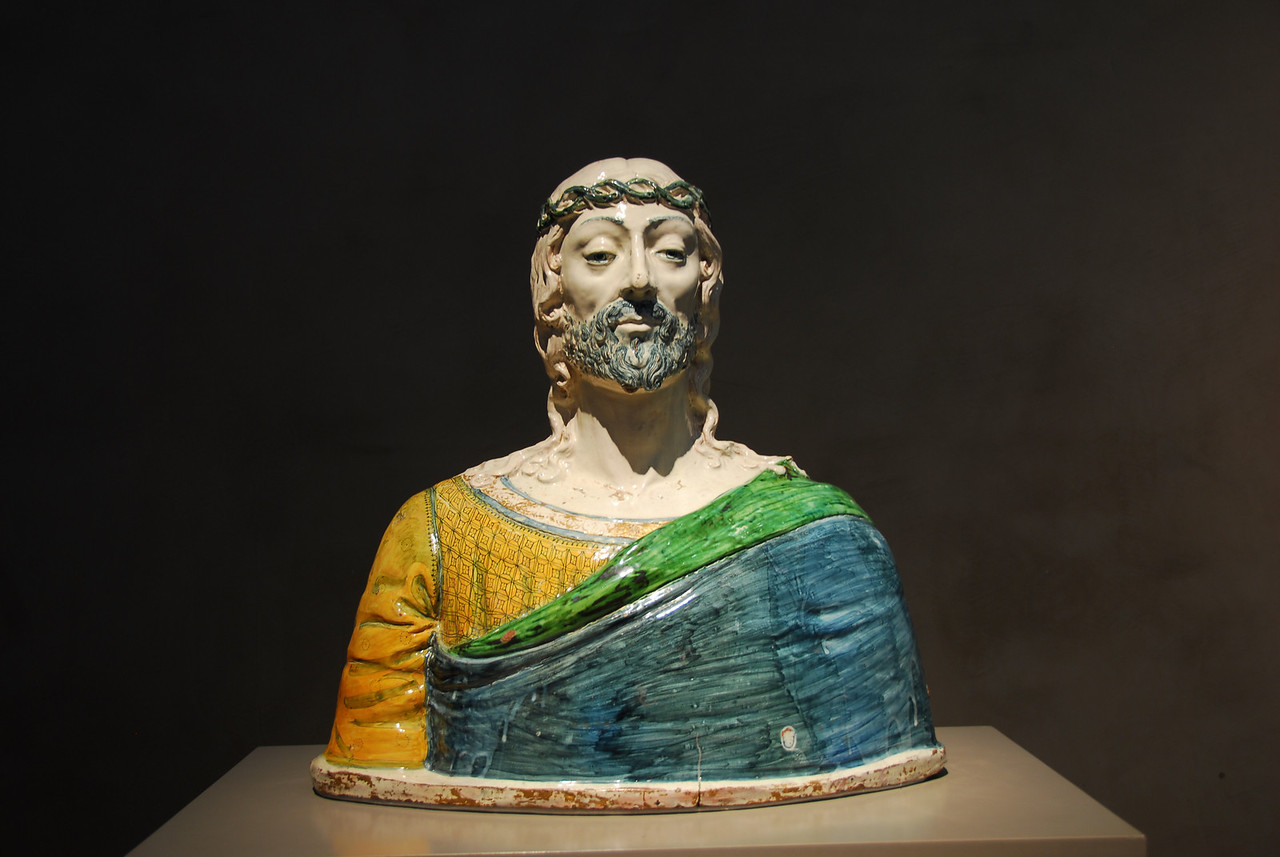The 16th-Century Blue-Bearded Ceramic Jesus at the Getty Museum in California