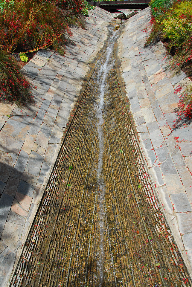 The Getty Center Garden stream in Brentwood, California