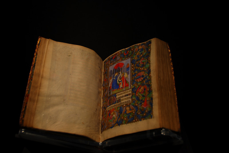 Stammheim Missal on display at the Getty Museum in California