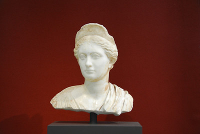 Bust of a woman in J. Paul Getty Museum in California