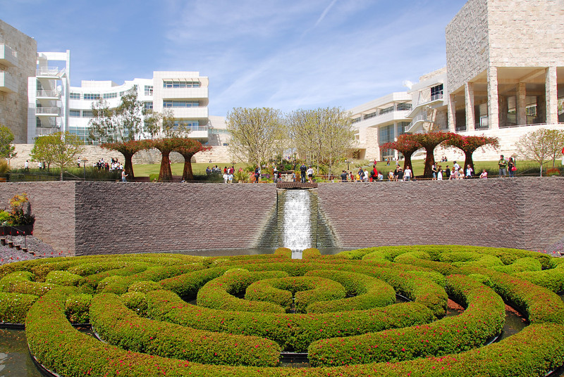 Central Garden at Getty Museum in California