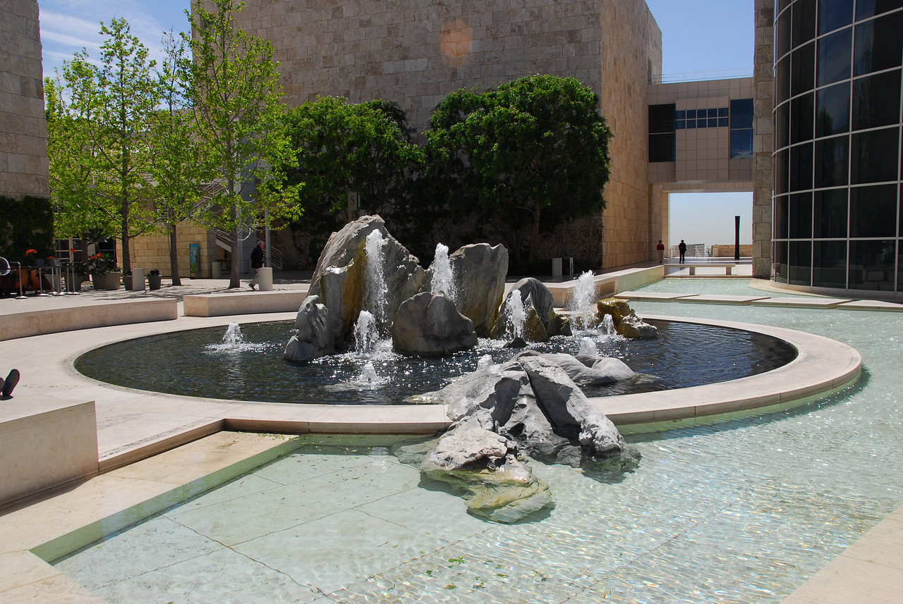 Gold Country hydraulic mined Rock Fountain in Getty Center, California
