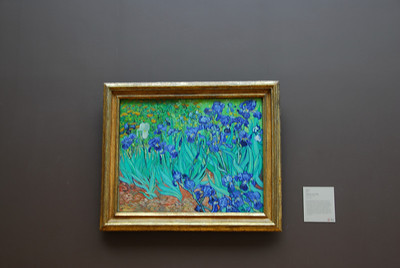 Irises by Vincent Van Gogh at the Getty Museum in California
