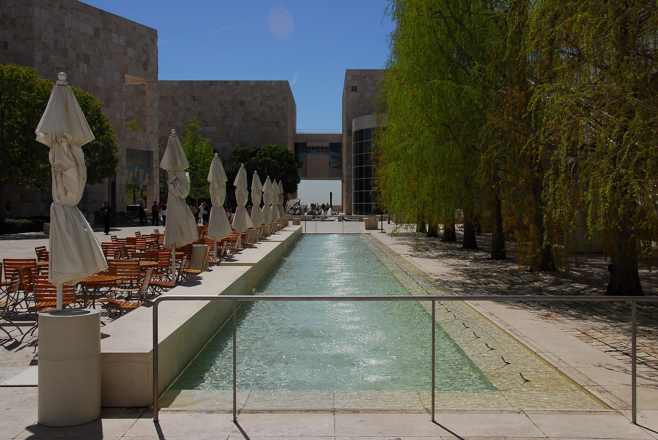 Inner courtyard of the Getty Museum at the Getty Center