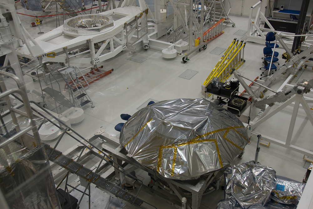 Mars Science Lander in the Clean Room of the Jet Propulsion Laboratory, Pasadena, California