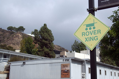 Rover crossing sign in JPL, California