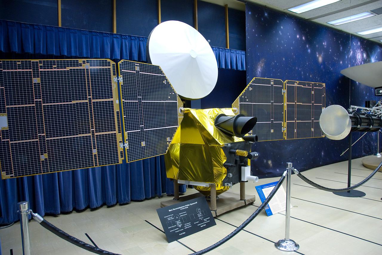 Mars Reconnaissance Orbiter Spacecraft Model in JPL, California